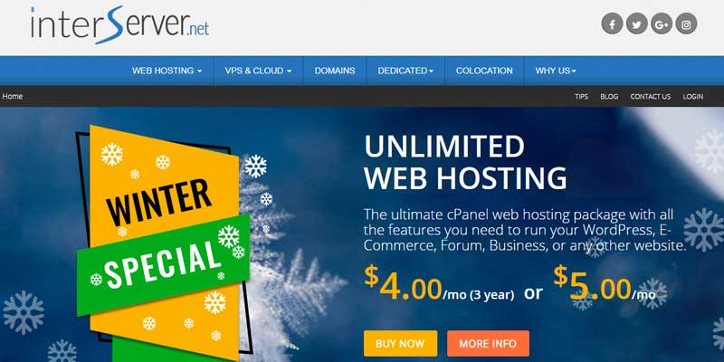 Interserver Web Hosting Deal