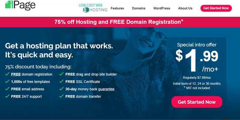 iPage Hosting Coupons