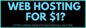Get Web Hosting For Dollar One